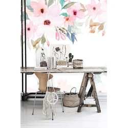 Zelfklevend behang XL Waterverf stilleven 300x250 cm