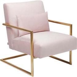 Kare Design Fauteuil Living Vegas - Roze Fluweel