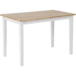 Eettafel hout wit 120 x 75 cm HOUSTON