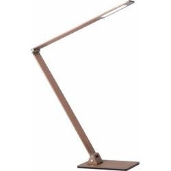 Lucide Bureaulamp Flatt 1-Lichts B5 X H105 Cm - Aluminium Bruin