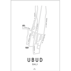 Ubud Kaart (70x100cm)
