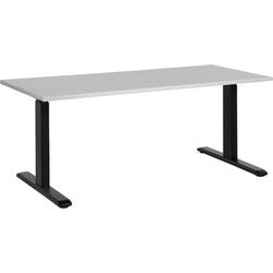 Bureau hoogte verstelbaar in grijs / zwart 180 x 80 cm. UPLIFT II