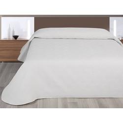 Nightsrest Bedsprei Gwen - Sprei met een rustige ruit - Wit Maat: 180x260 cm