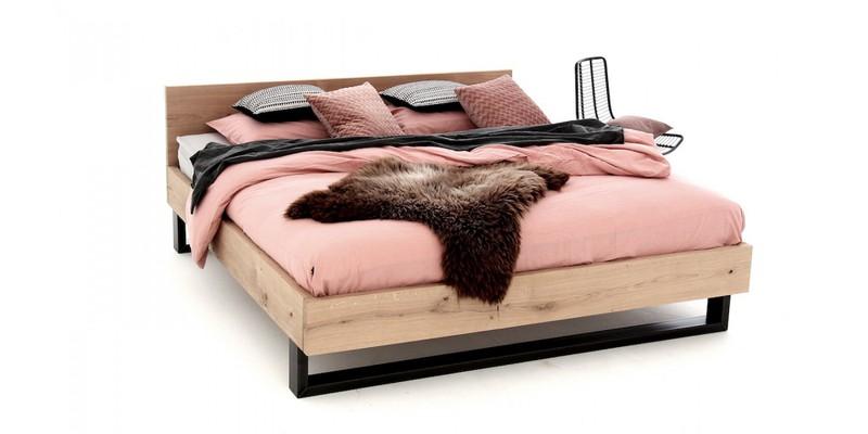 Massief Houten Bed 160x200.Massief Houten Bed Tweepersoons 160x200 Cm