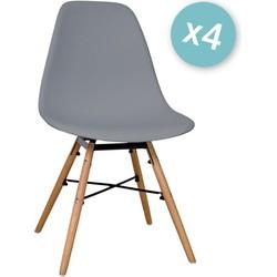 Zons - Set van 4 stoelen - Grijs