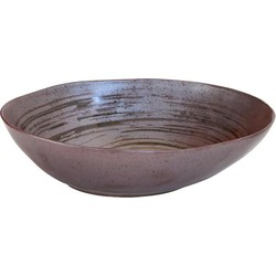Storebror handgemaakte schaal van keramiek, 19x16x5,5cm, IBC2015