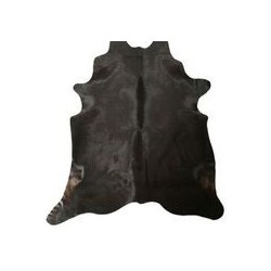 Koeienhuid 160x200 zwart