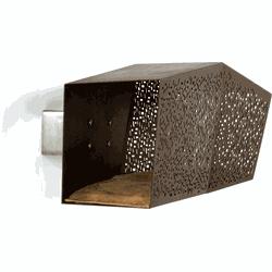 Brando Design Tunnel kattenhuis wand bruin/bruin microvezel 88 x 29,5 cm