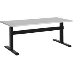 Bureau grijs/zwart 180 x 80 cm elektrisch verstelbaar UPLIFT