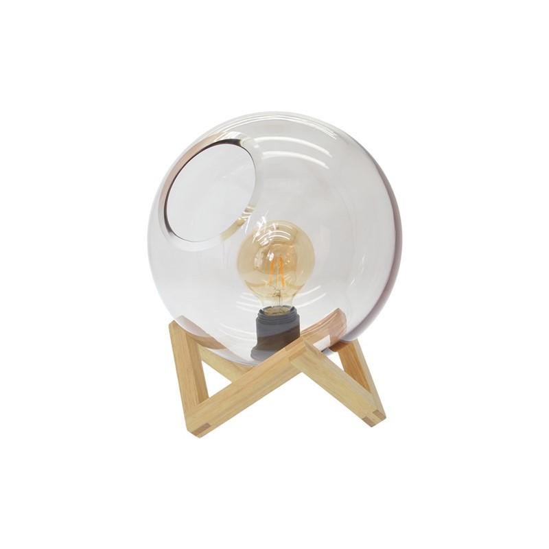 Tafellamp Ayla glazen bol -25X32CM - Zons -