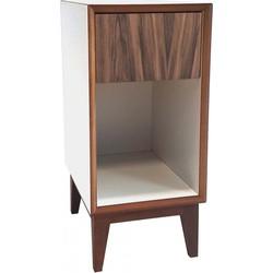 PIX nachtkastje klein met wit frame en houten voorkant