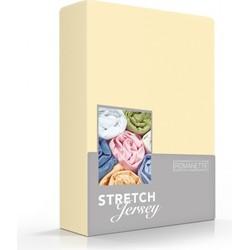 Romanette Hoeslaken Stretch geel Single Jersey 100% katoen Lits-jumeaux. 160x200/220 180x200 200x200