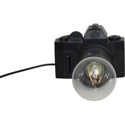 Camera Lamp-15x11cm-Incl. gloeilamp-Polyresin-Zwart-Housevitamin