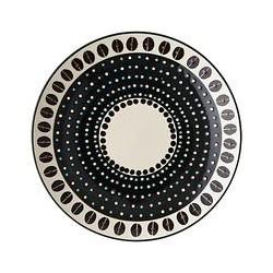west elm Potters Workshop Dot Dinner Plate, Black/White