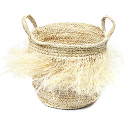 The Hula Raffia Baskets with Handles - Natural - M
