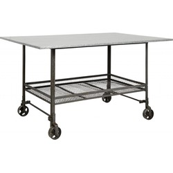 Nordal Trolley tafel Industrial Zilver Ijzer