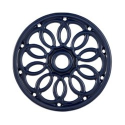 Linea Cast Iron Trivet, Blue, Blue