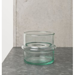 Tealight Holder Recycled Glass