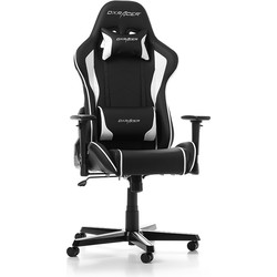 DXRacer Gamestoel - Formula-series - Bureaustoel PU Leder - Zwart/Wit Deluxe