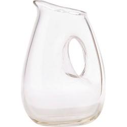 Pols Potten Jug with hole Carafe - 1 Liter. Transparent