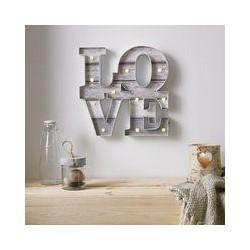 Graham & Brown Lit Love Shaped Art