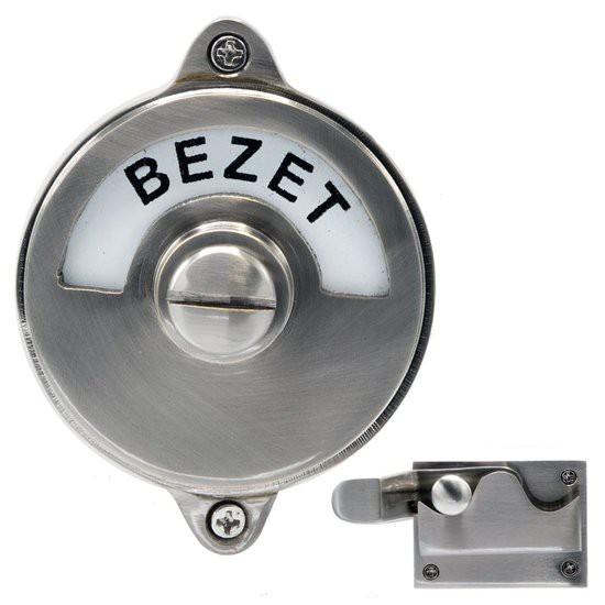 WC Slot - Hendel vrij/bezet mat nikkel -