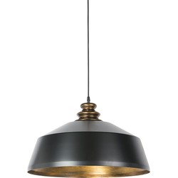 Industrial Round Pendant Lamp Black with Gold - Legna