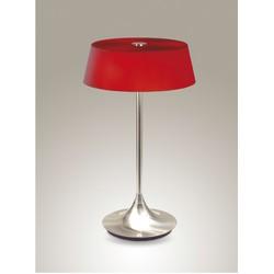 Linea Verdace Tafellamp Notär - H51 Cm - Rood Glas/Mat