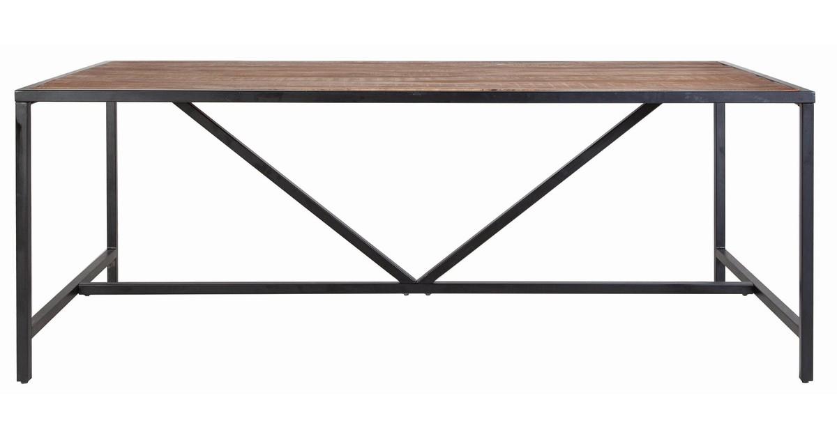 Eleonora Soho Eettafel 200x100x76 Cm – Tafelblad Mangohout – Metalen Frame vergelijken Eleonora