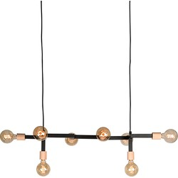 Hanging lamp Loco by LABEL51 is a characteristic lamp with an eye-catching, simplistic design. The cool sleek lines, combined with the striking wooden detail make this into a designer piece that looks beautiful in every room.<br>