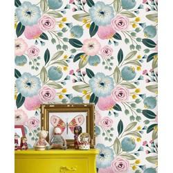 Zelfklevend behang Bloemenprint multicolour  122x122 cm