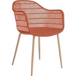 Tamy - Set van 2 stoelen - Terracotta