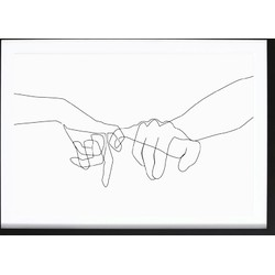 Pinky Swear Abstract Poster (70x100cm)