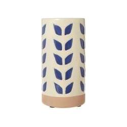 Dickins & Jones Blue leaf print vase