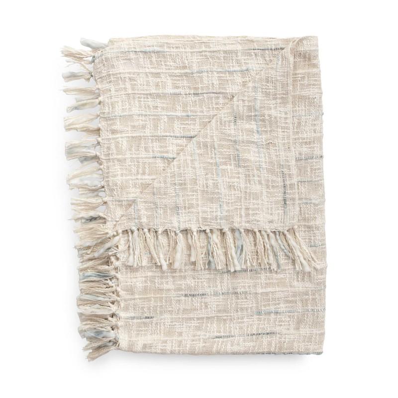Plaid Cilian 140x220 cm off-white - 65% Acryl 35% Polyester -