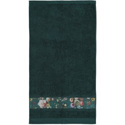 Essenza Badtextiel Fleur Dark Green-Handdoek (60 x 110 cm)