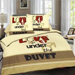 Dekbedovertrek Love is under - Multi Maat: Lits-jumeaux (240 x 220 cm + 2 kussenslopen)