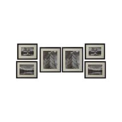 Linea Gallery 6 piece frame set black