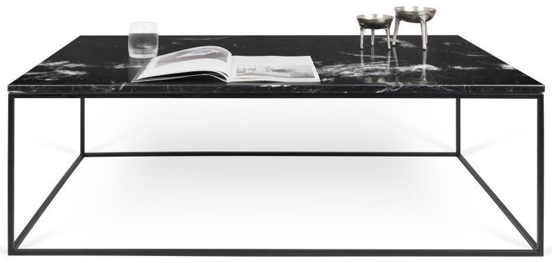 TemaHome Salontafel Gleam 120 - 120 X 75 X 40 Cm - Zwart - Zwart Marmer -