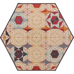 GAN rugs Vloerkleed Kelim Hexa Enblanc Orange - 261 x 300 cm