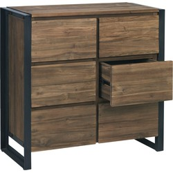 D-Bodhi Fendy Dressoir 90x40x90 6-Laden - Teakhout