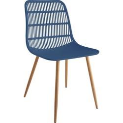 Tamy - Set van 4 stoelen - Blauw
