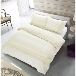 The Supreme Home Collection Avenza Creme Maat: Lits-jumeaux (240 x 220 cm + 2 kussenslopen)