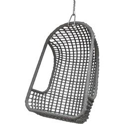 HK-living hanging chair, hangstoel voor buiten grijs 77x55x110cm