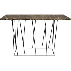 TemaHome Helix Sidetable Zwart - 120x40x76 - Bruin Marmer