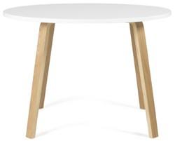 Verkoop Witte Ronde Eettafel.Tenzo Ronde Eettafel Dine O110x75 5 Wit Tafelblad Houten Poten