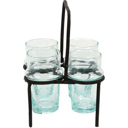 Iron Glass Holder black