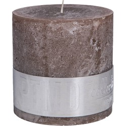 PTMD PTMD Rustic Ambient Brown Block candle 10x10cm
