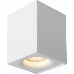 Lucide Plafondspot Bentoo-LED Vierkant GU10 1-Lichts Dimbaar - Wit
