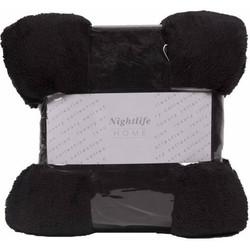 Nightlife - Plaid - Fluffy - Lycra / elastaan - Zwart